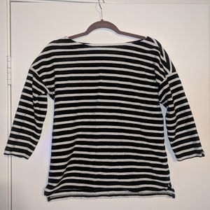 Talbot's ▪️ black and white striped top
